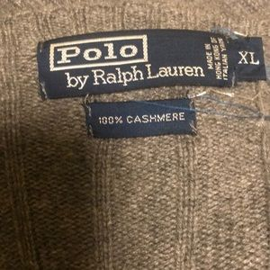 Ralph Lauren POLO XLGray Cashmere CrewNeck Sweater